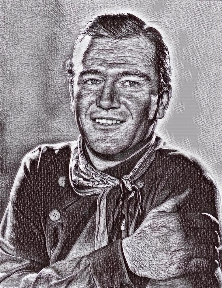 John Wayne by Toby